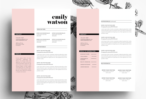 3 page resume template 50 best cv resume templates of 2018