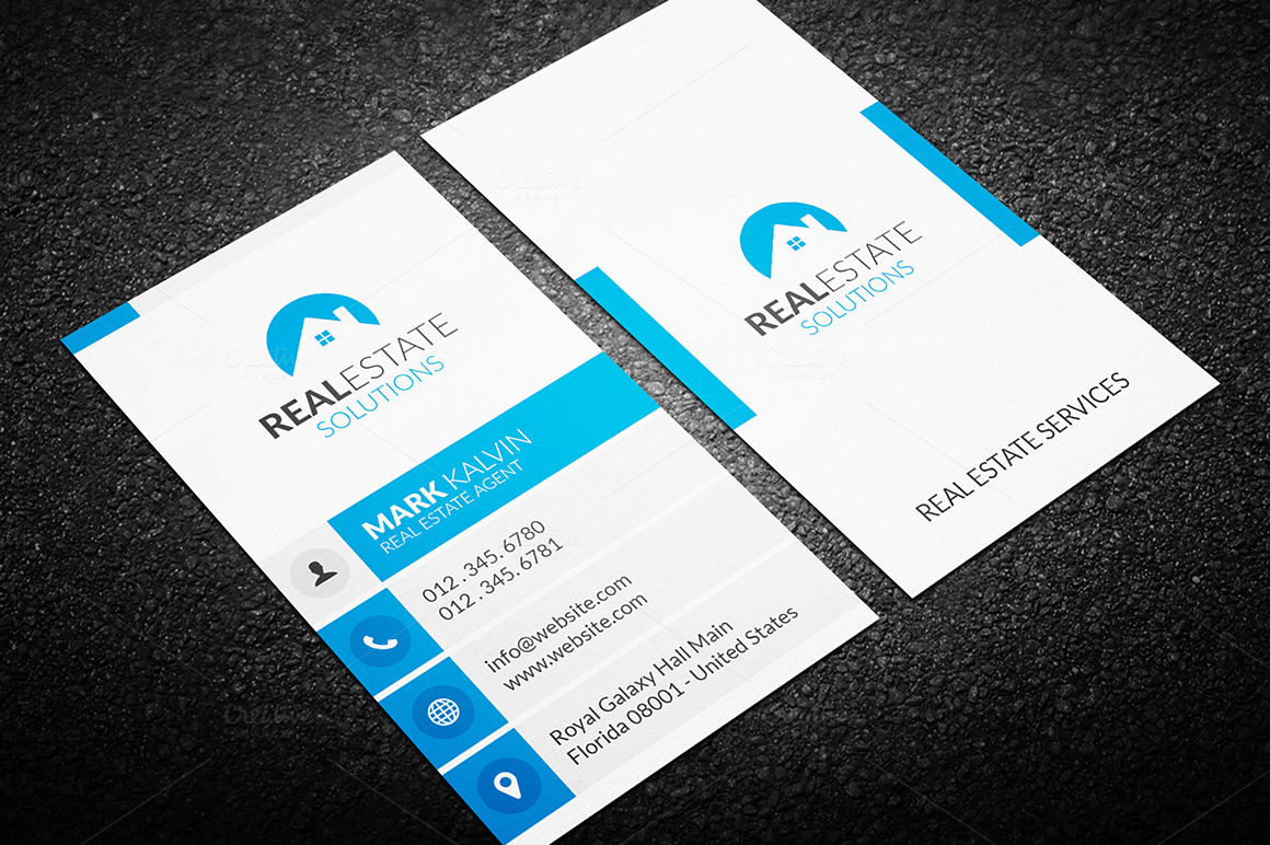 Real estate business card 36 business card templates on for Real estate business cards templates free