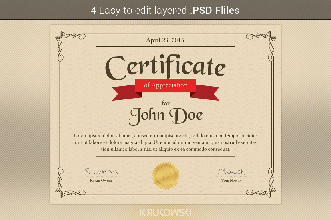 Appreciation Certificate Template ~ Stationery Templates ...
