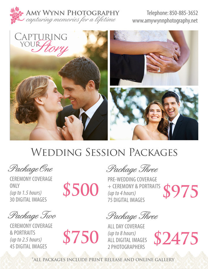 wedding photography price sheet templates on creative market