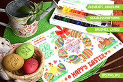 Easter Watercolor big set.V-Graphicriver中文最全的素材分享平台