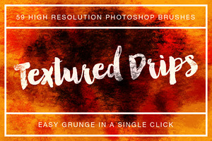 Textured Drips Brush Pack Volume 1