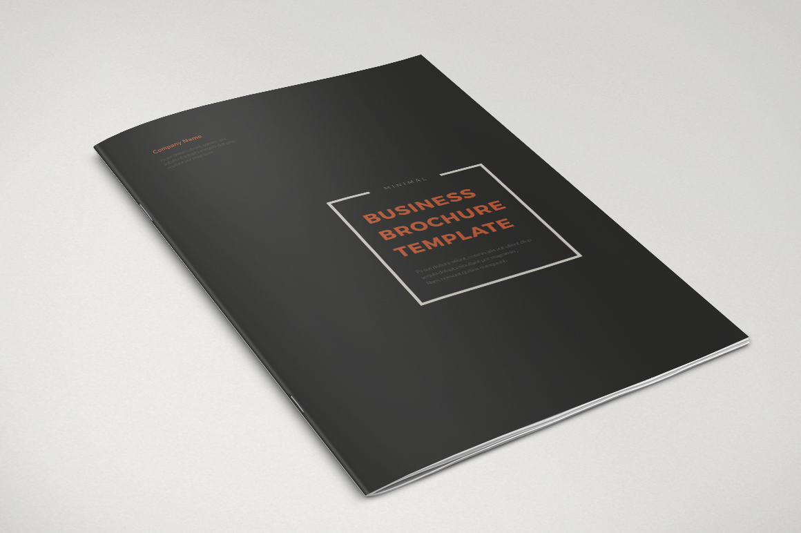 Minimalist Book Cover Template : Minimal business brochure templates on creative