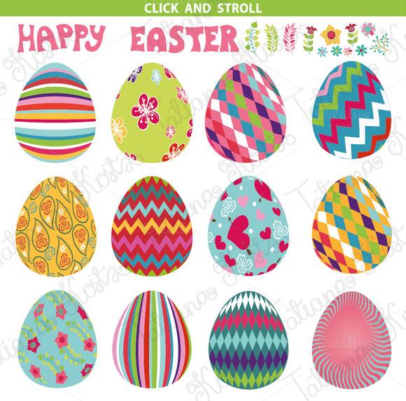 Easter pattern eggs set 01.Vector - Illustrations - 3