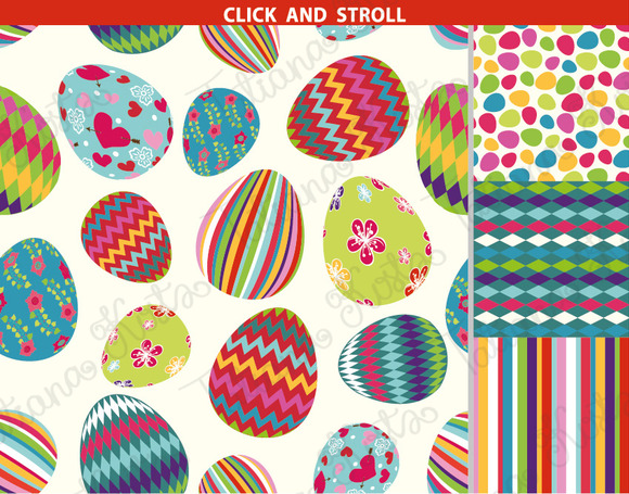 Easter pattern eggs set 01.Vector - Illustrations - 4
