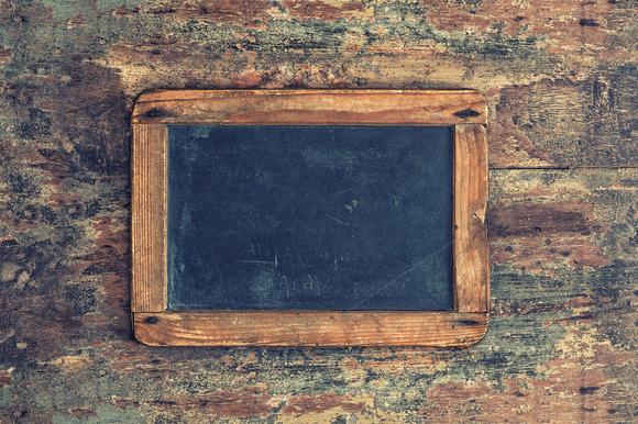 Antique chalkboard. Wooden texture - Textures
