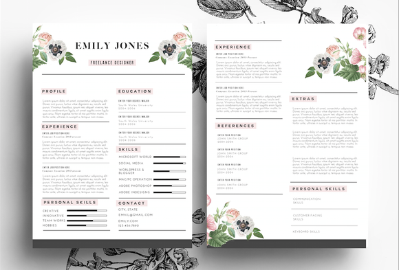 modern cv psd word resume templates on creative market