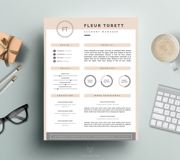 Hipster Resume template | CV design ~ Resume Templates on ...