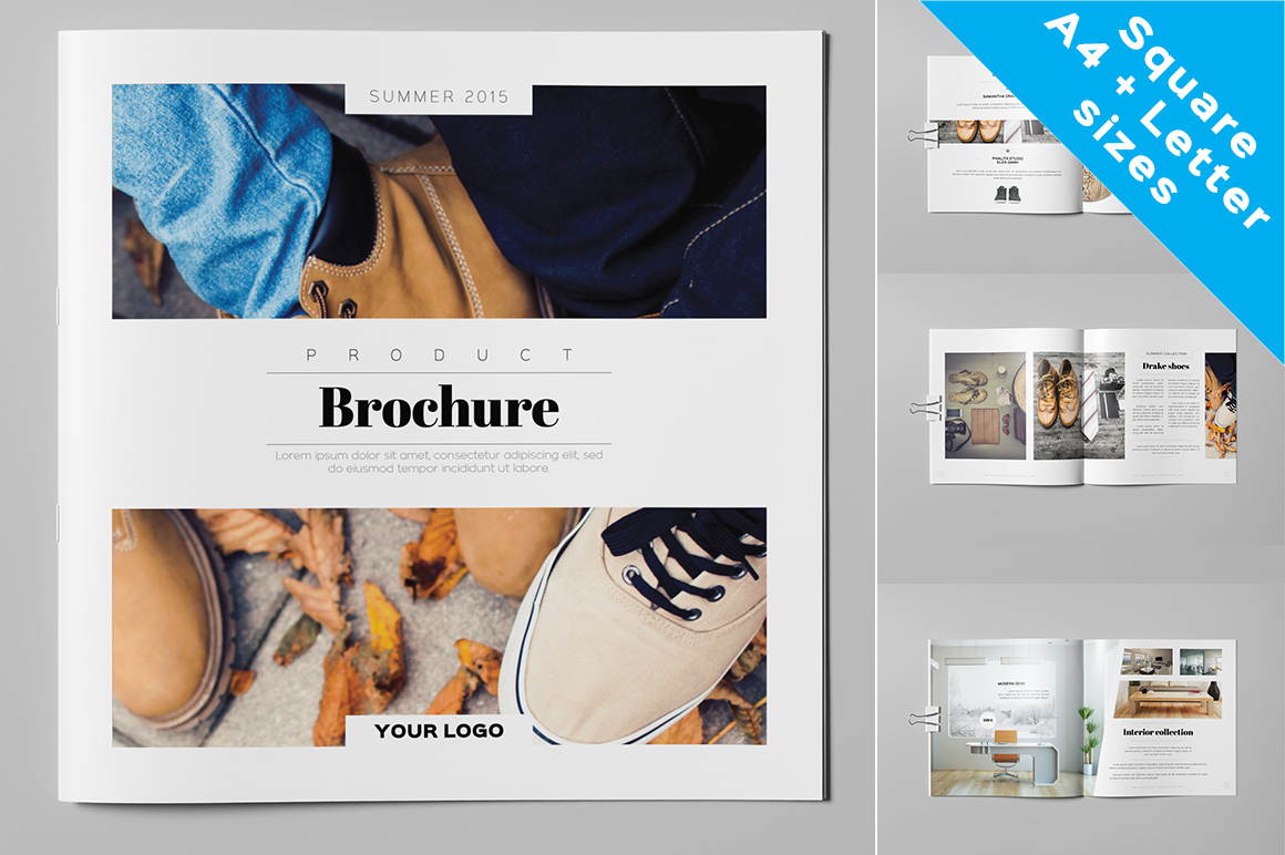 product brochure catalog brochure templates on creative market. Black Bedroom Furniture Sets. Home Design Ideas