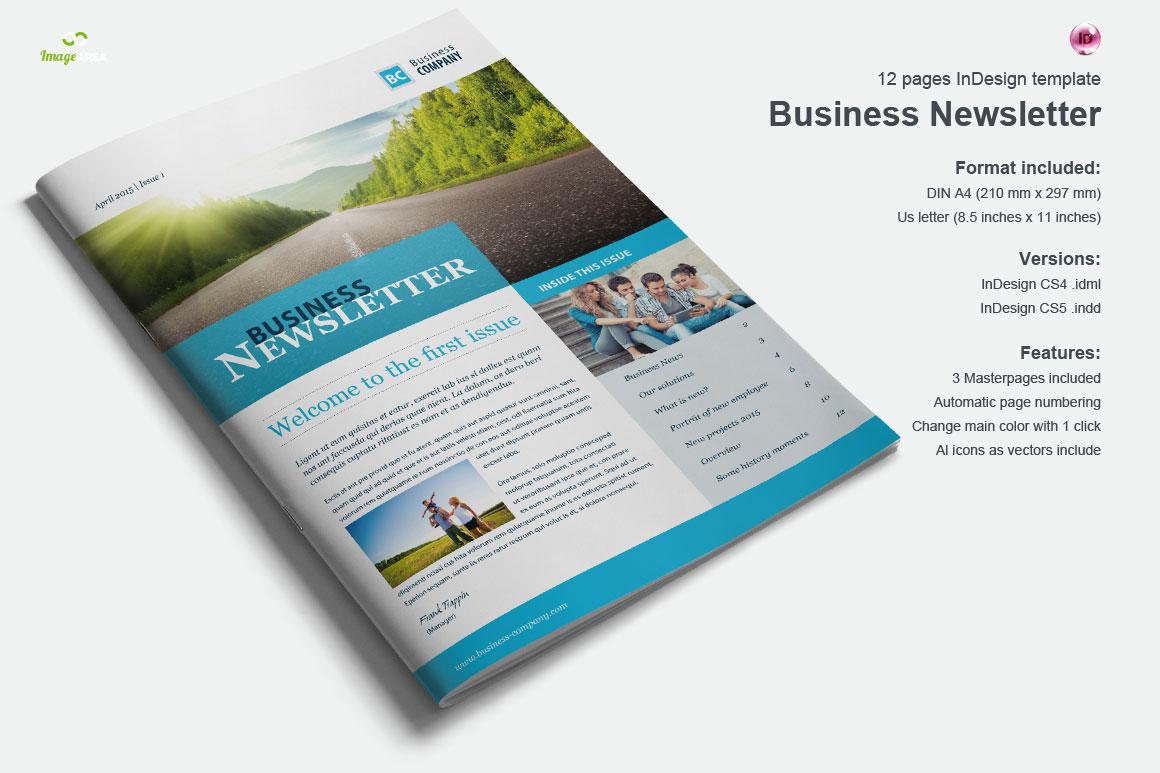 Business Newsletter Vol 2 Brochure Templates on Creative