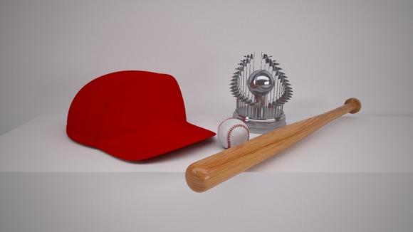 Baseball cap and Trophy