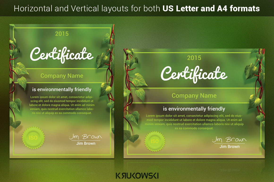 Vintage Marriage Certificate Design Template In Psd Word: Natural Certificate Template