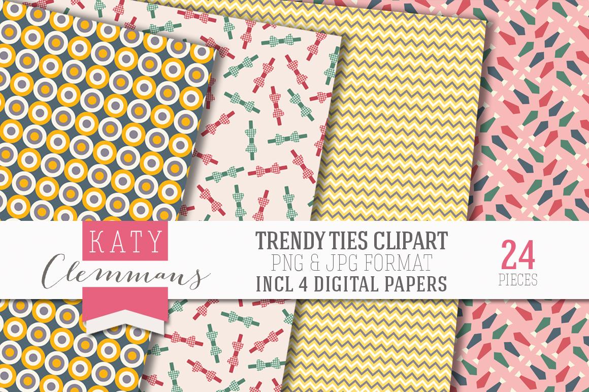 Trendy Ties Clip Art Pack Illustrations On Creative Market