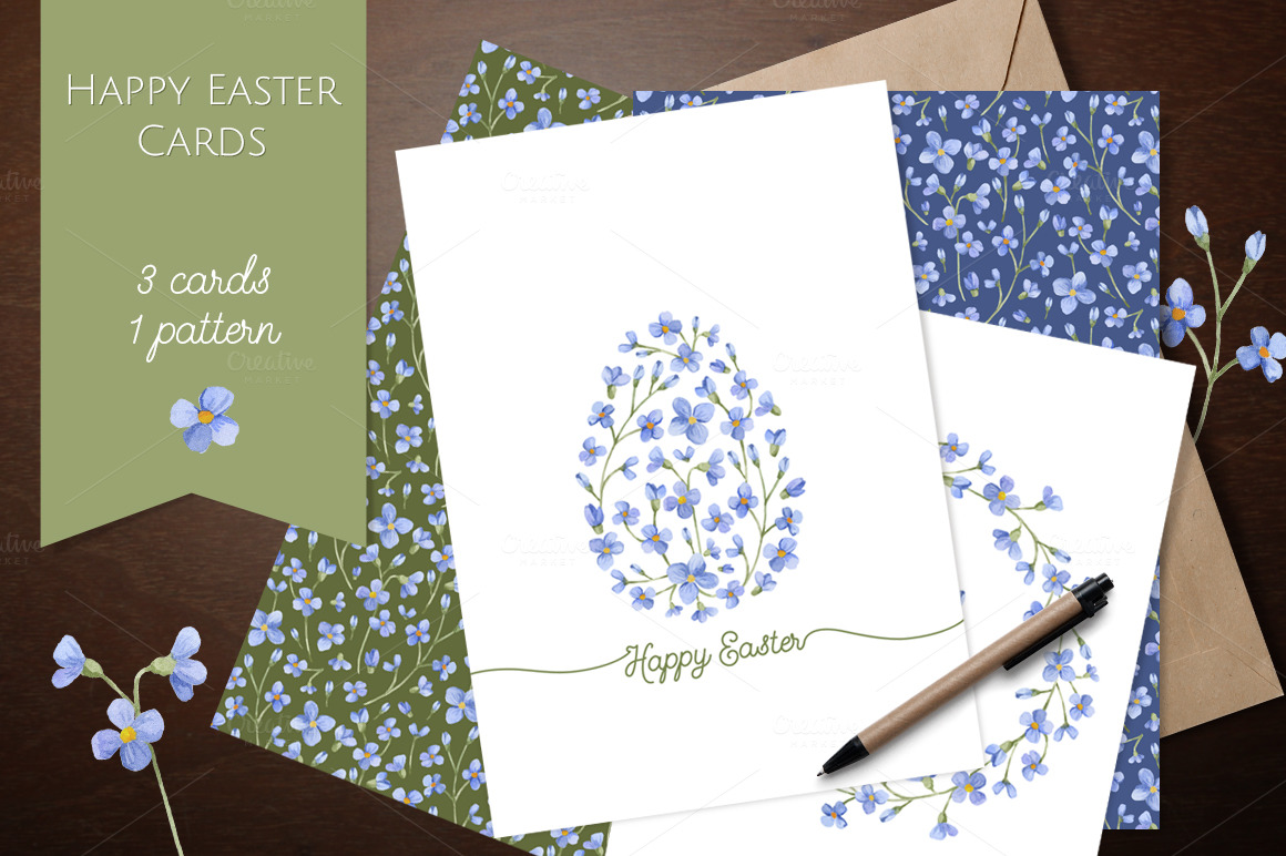 happy easter cards watercolor