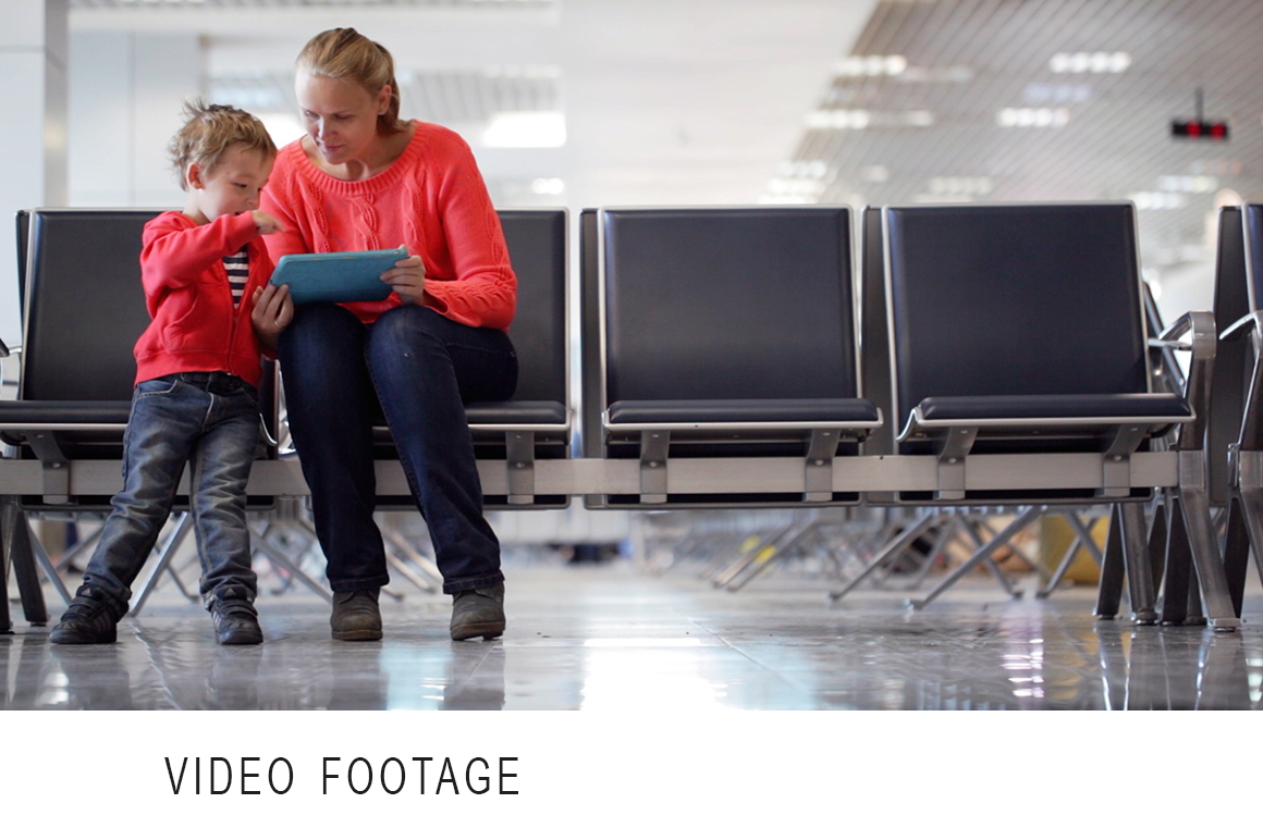 Young Mother And Son In An Airport Education Photos On