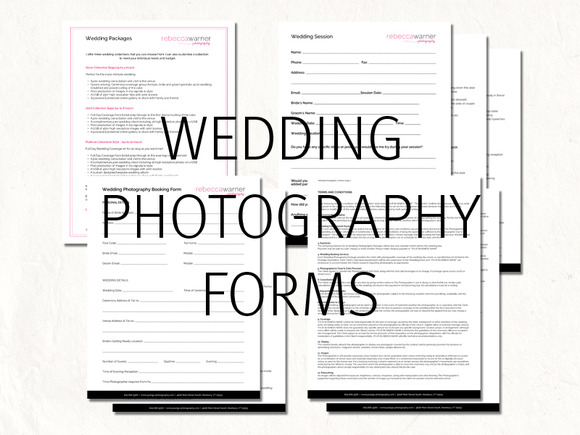 Wedding photography contract forms ~ Stationery Templates