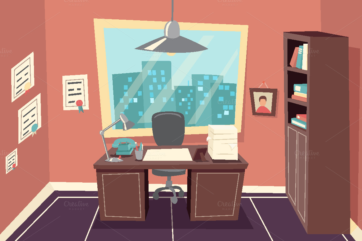 business working office room graphics on creative market