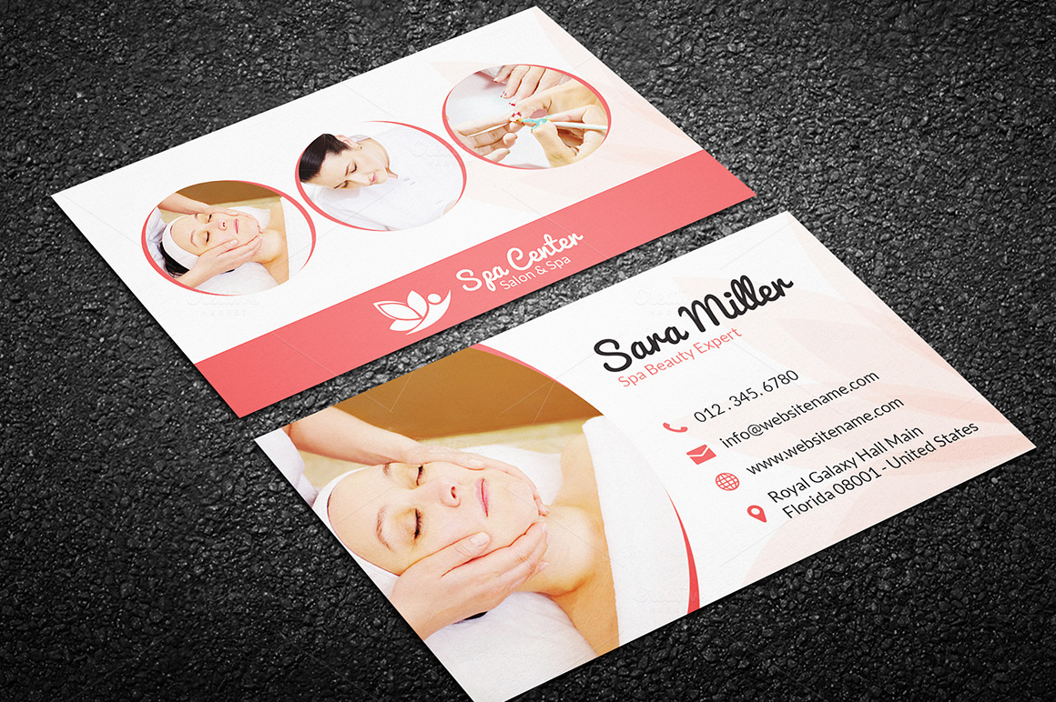 Beauty Salon Spa Business Card 41 Business Card