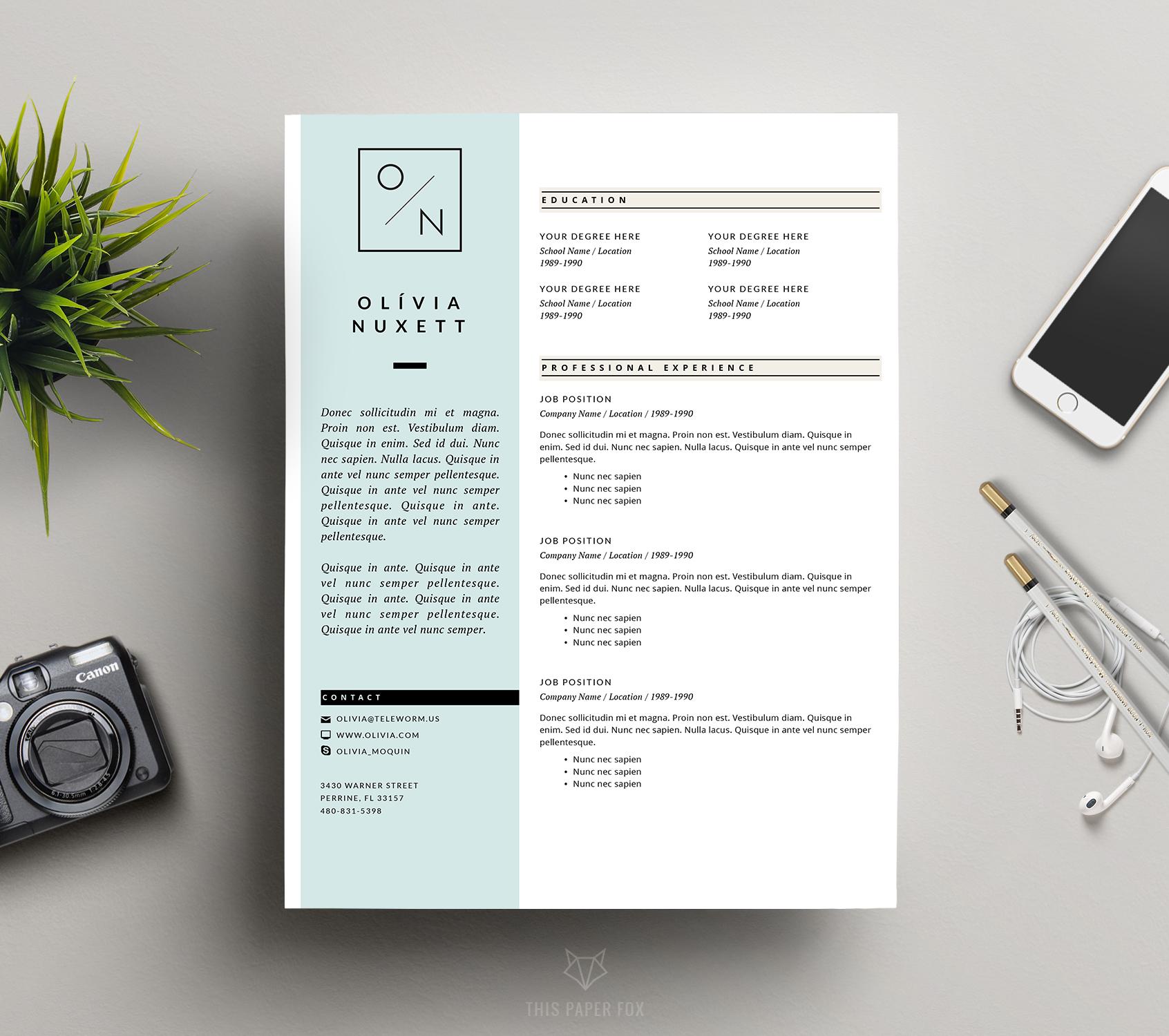 minimalist resume for ms word