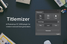 Titlemizer Photoshop Plugin