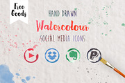 330 Watercolor Social media-Graphicriver中文最全的素材分享平台