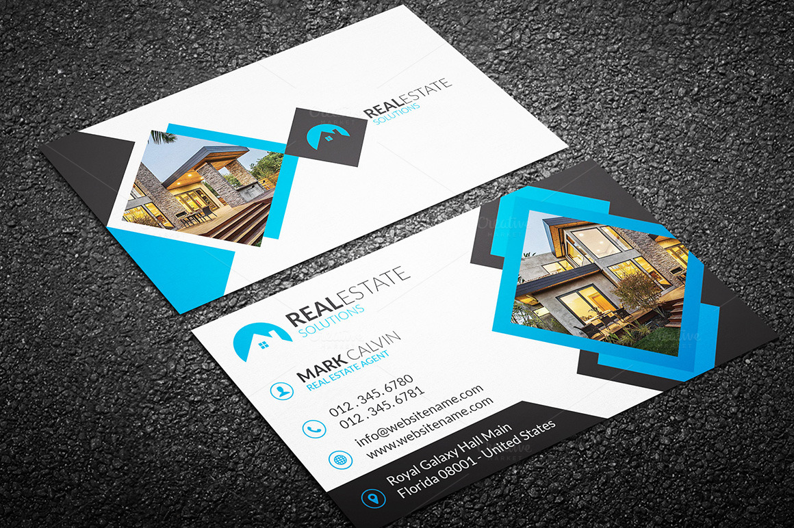 Real Estate Business Card 42 ~ Business Card Templates on ...