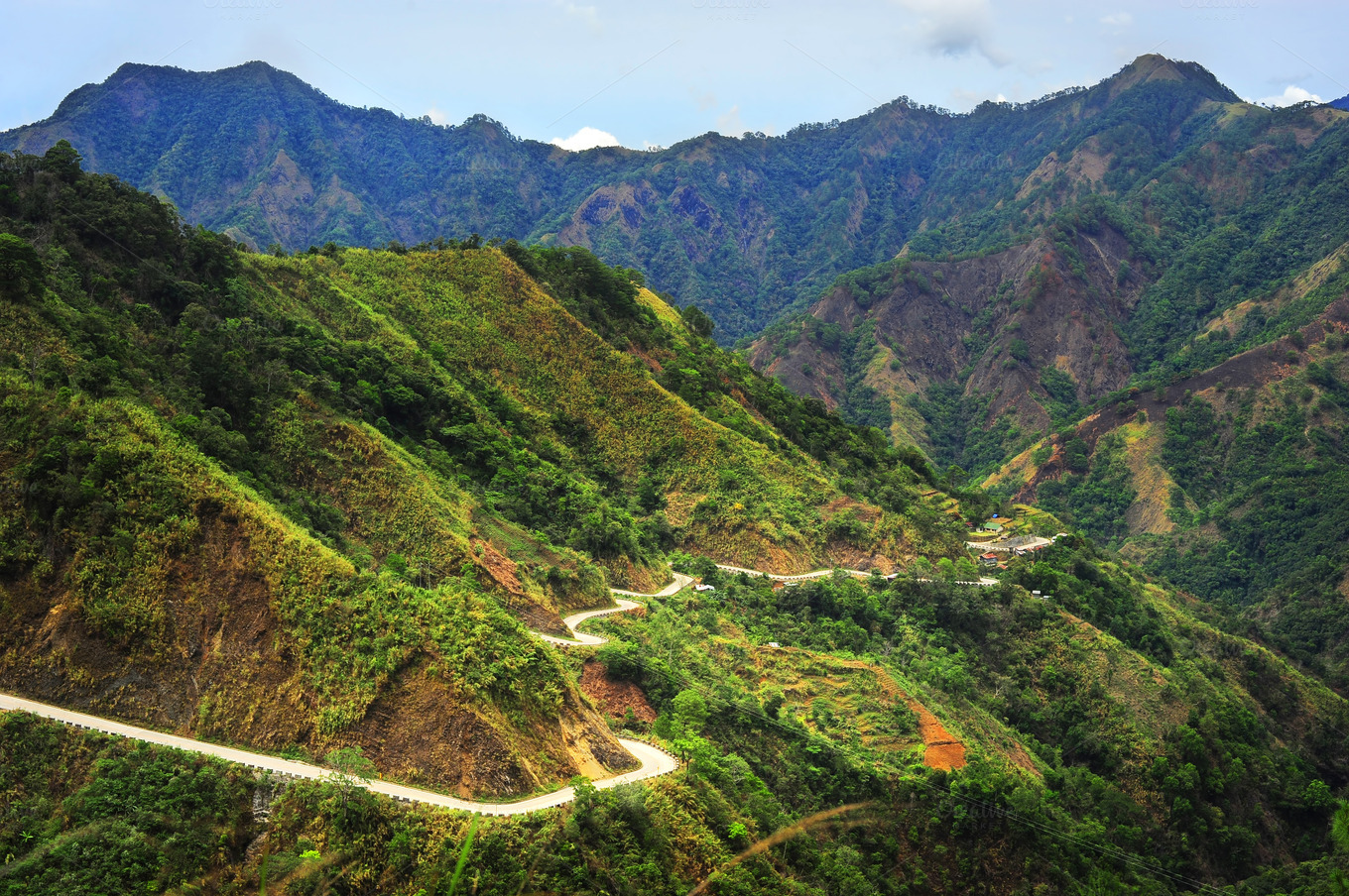 Road in Cordillera Mountains Nature Photos