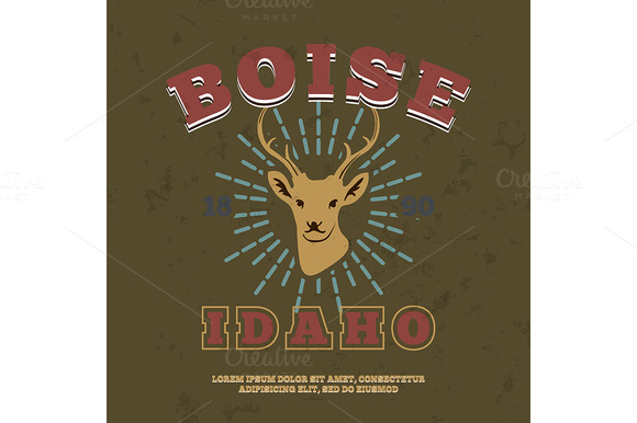 Boise, Idaho. t-shirt graphic print - Illustrations