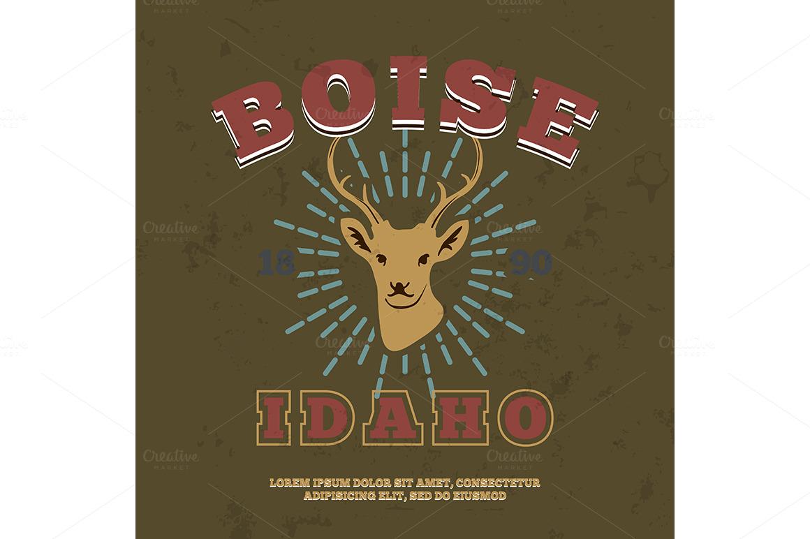 Boise idaho t shirt graphic print illustrations on for Boise t shirt printing