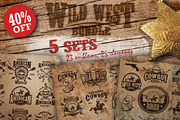 Bundle of vintage wild west-Graphicriver中文最全的素材分享平台