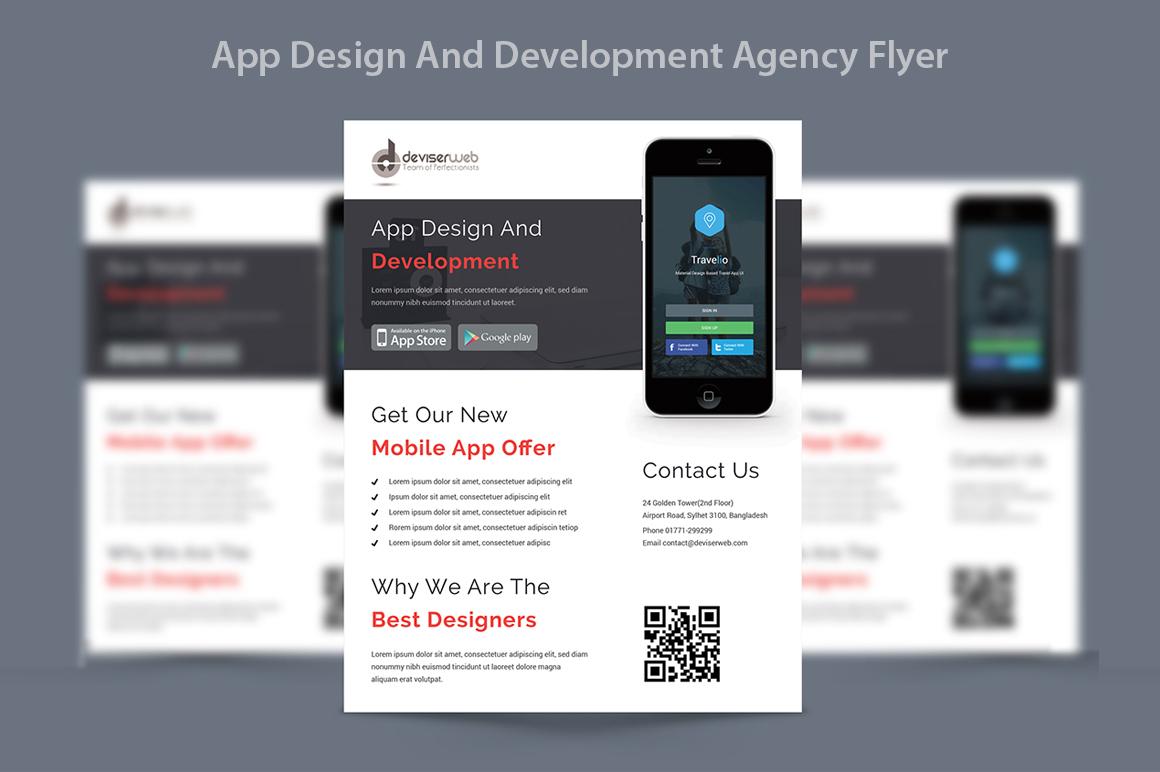 app design   development agency flyer