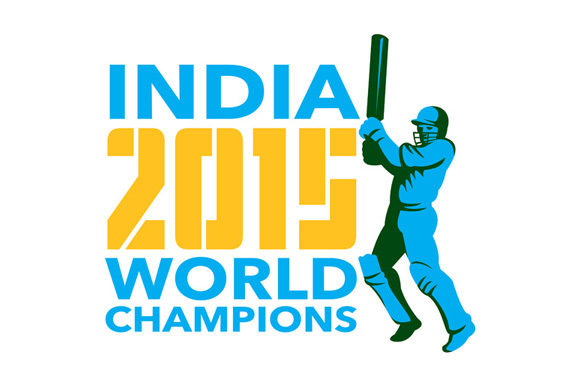 India Cricket 2015 World Champions I Illustrations On