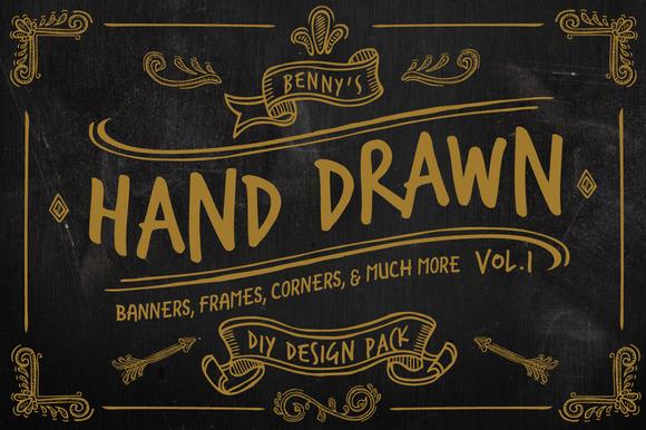 Hand Drawn DIY Design Pack Vol.1 - Illustrations