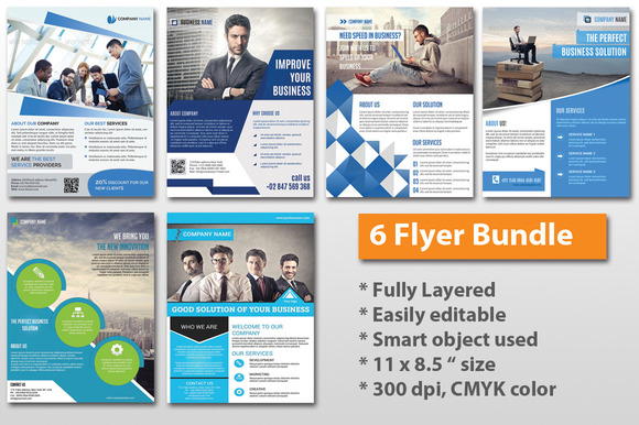 Corporate Flyer Bundle - 6 flyer