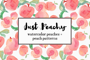 Watercolor Peach Patterns + Peaches