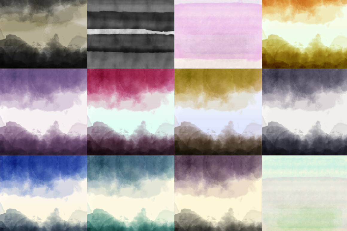 12 Watercolor Ombre Backgrounds Textures On Creative Market