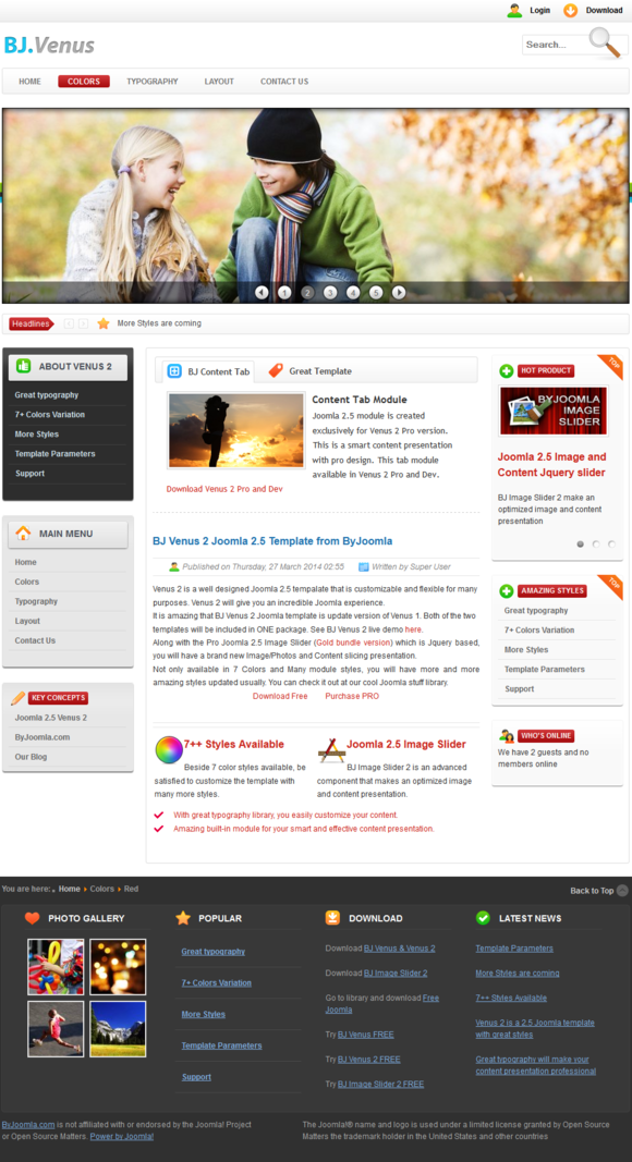 B Venus 2 - Light and Bright Joomla - Joomla - 1