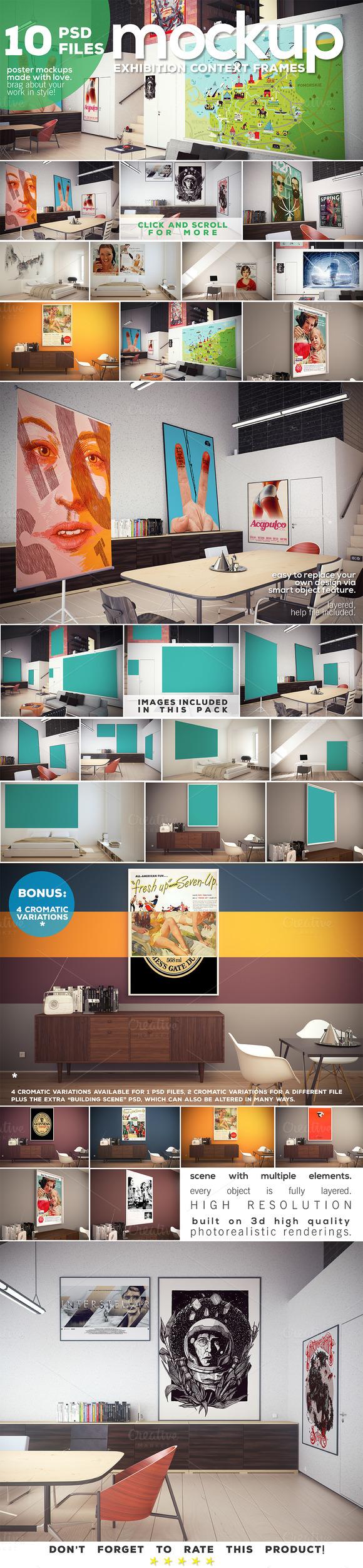 Poster Mockup vol.2 - Context Frames - Product Mockups