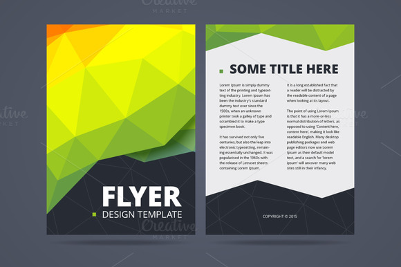 Two sided flyer design template   Flyer Templates on Creative Market SFmRJZxq