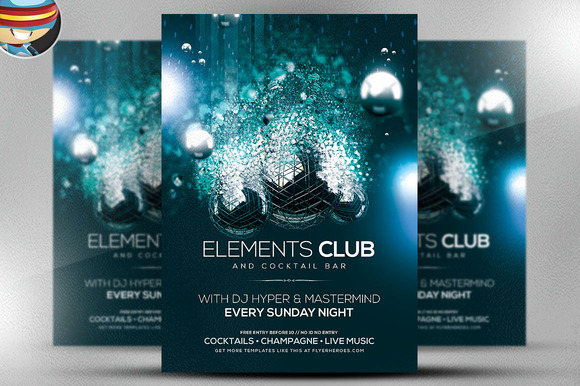 elements flyer template flyer templates on creative market. Black Bedroom Furniture Sets. Home Design Ideas