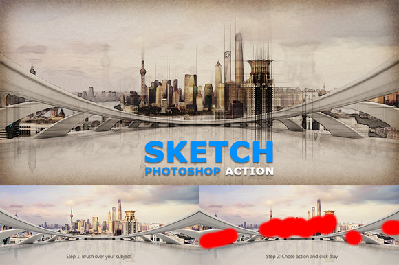 Sketch Photoshop Action 234969