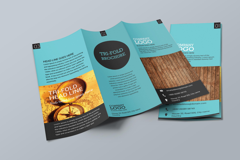 simple brochure template - simple trifold brochure design brochure templates on