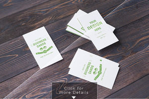 10 Realistic Business Card Mock-up's