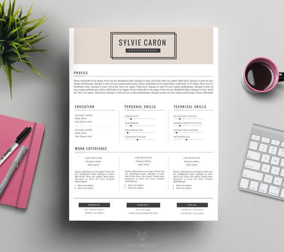 Hipster CV Template for MS Word ~ Resume Templates on ...