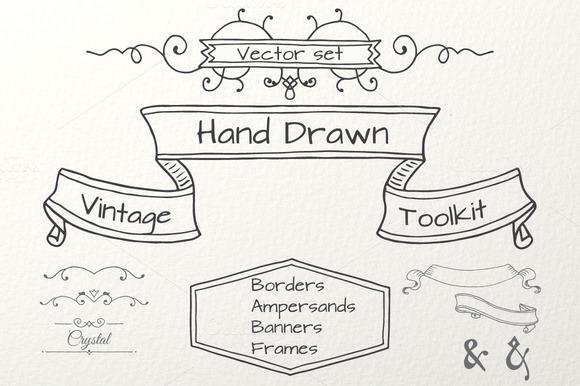 Hand Drawn Vintage Toolkit