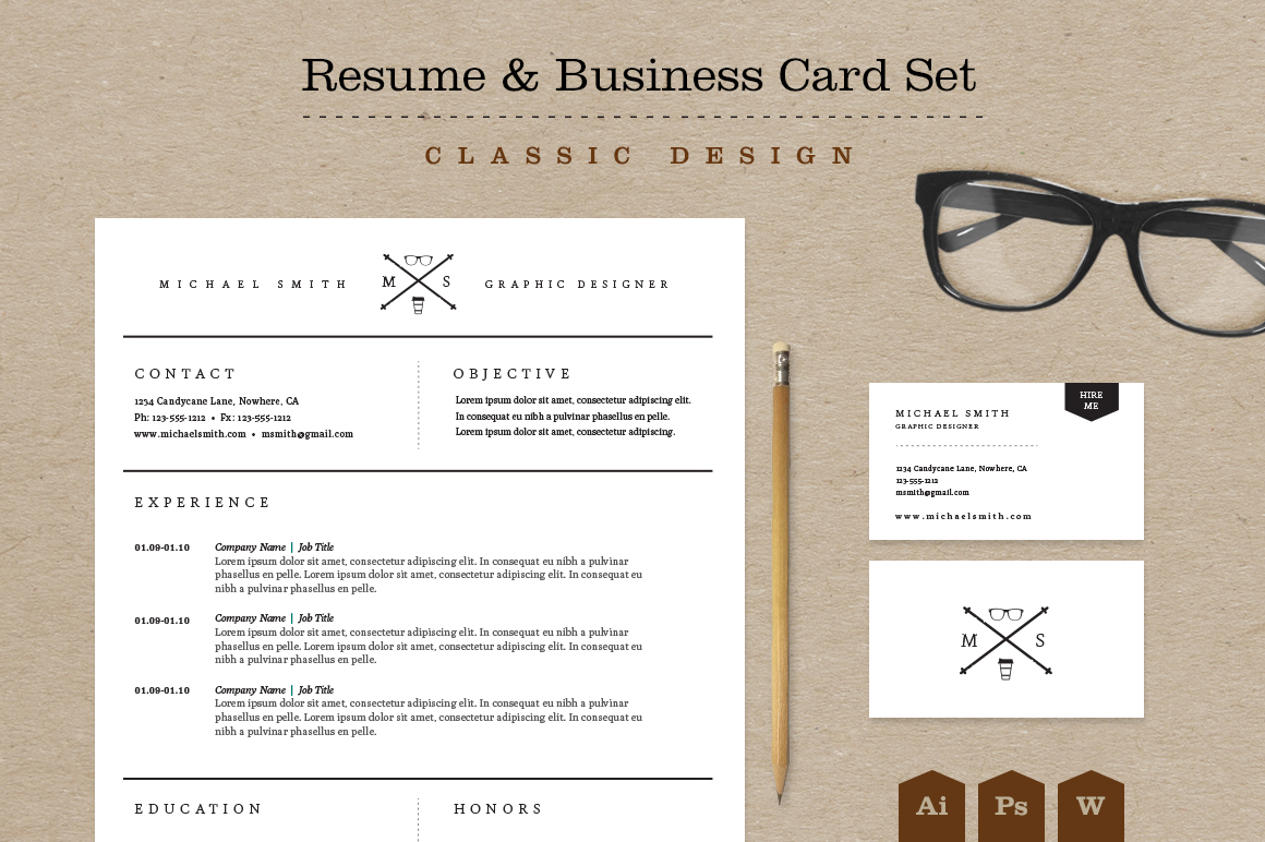 Resume Styles Business Cards