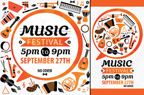 Music festival. Vector music flyer. - Illustrations