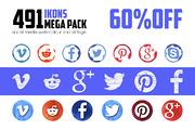491 Social Media ikons - 60-Graphicriver中文最全的素材分享平台