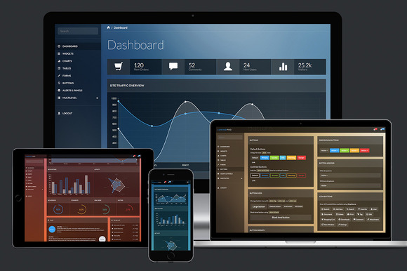 Lumino Pro: Bootstrap Admin Template - Bootstrap - 1