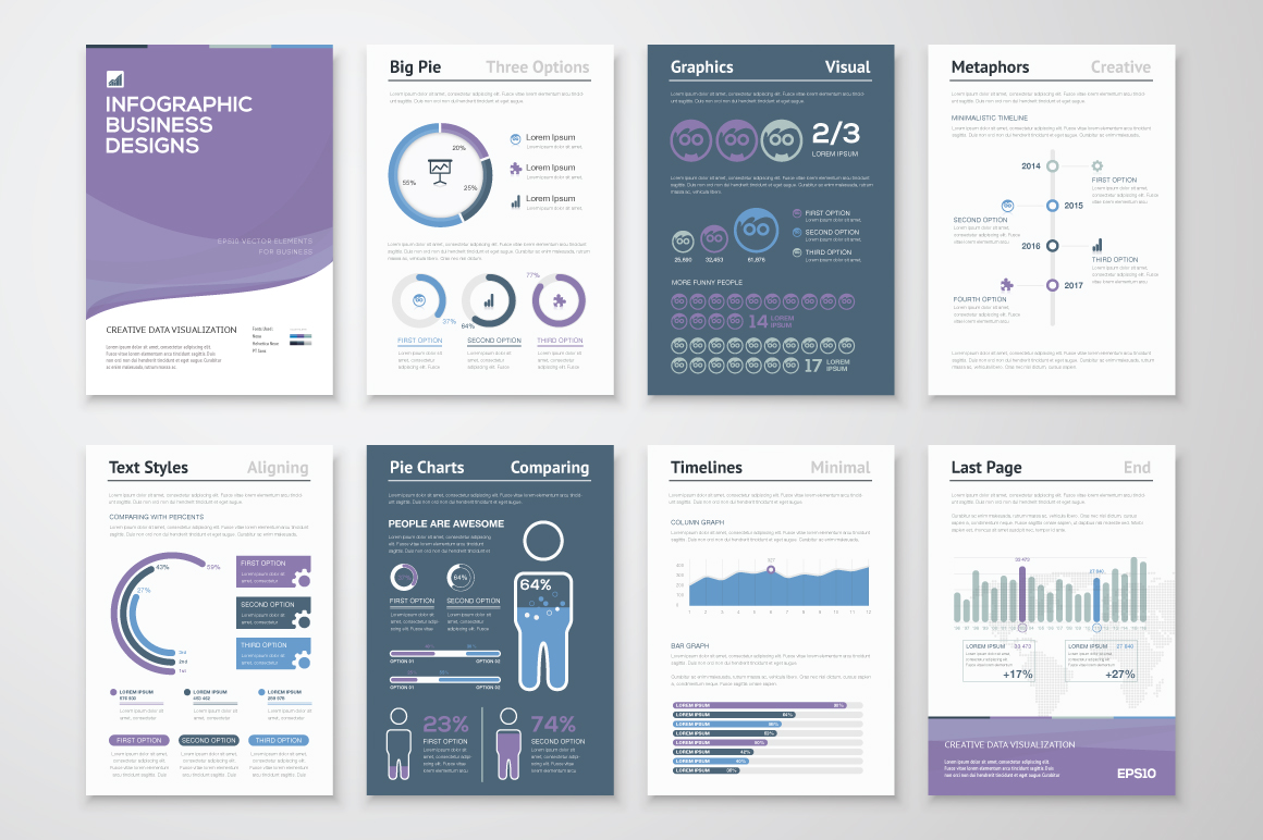 Infographic brochure elements 6 presentation templates for Infographic brochure template